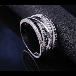 New mosaic Thai silver wrapped knot love ring 8